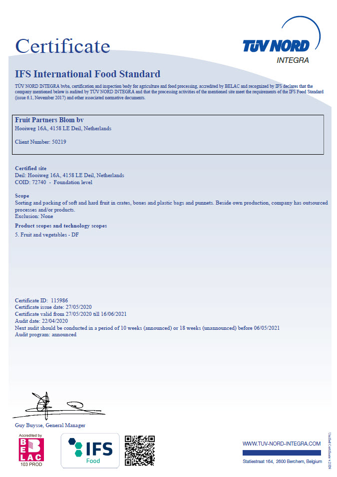 IFS International Food Standard